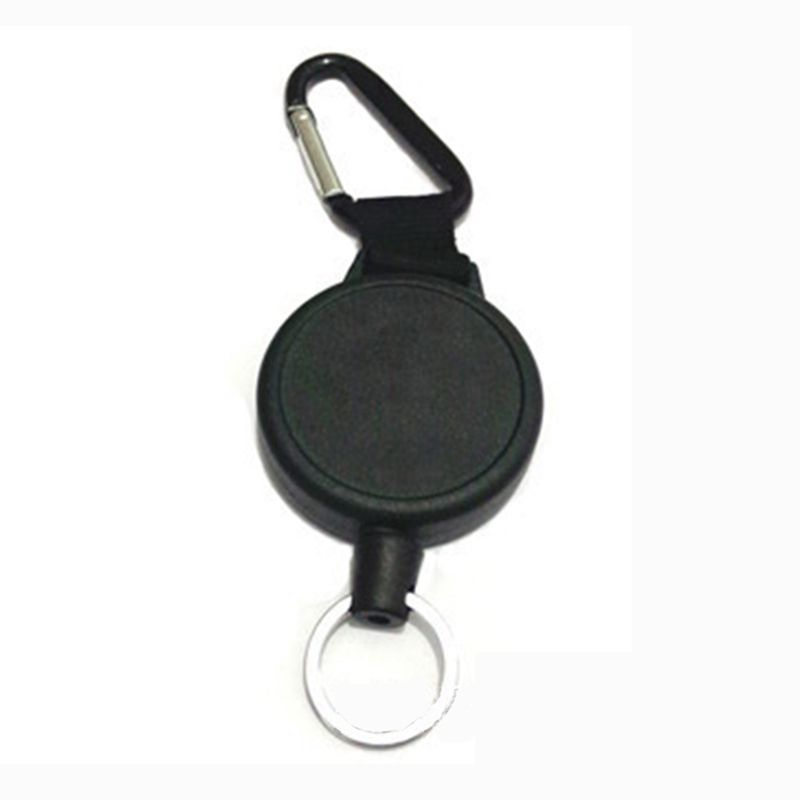 Heavy Duty Retractable Key Chain & Badge Reel Holder Carabiner Clip - Swivel-Back Extractable - Great For Swipe ID Cards