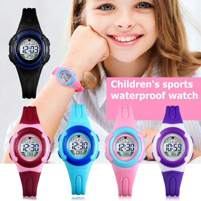 Watches Boys And Grils Electronic Sports Watch Fashion Creative Children Girls Analog Digital Waterproof Watch Clock Gift L201913 High Quality And Inexpensive