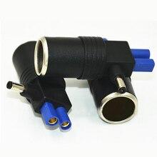 3 pcs/lot DC 5.5mm and EC-5 Cigarette Lighter Socket Adaptor Splitter Charger Power Adapter for Mini Jump Starter Portable