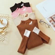 Модные корейские повседневные женские свитера и пуловеры с вышитыми буквами, Sueter Mujer, топы в стиле пэчворк, контрастные цвета, женские свитера
