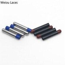 цена на Weiou 20pcs/5Set 4x22mm Red-black Seamless Aglet Metal Tips For Shoes Laces Sneakers Shoelaces Sale Wholesale Bulk DIY Kits