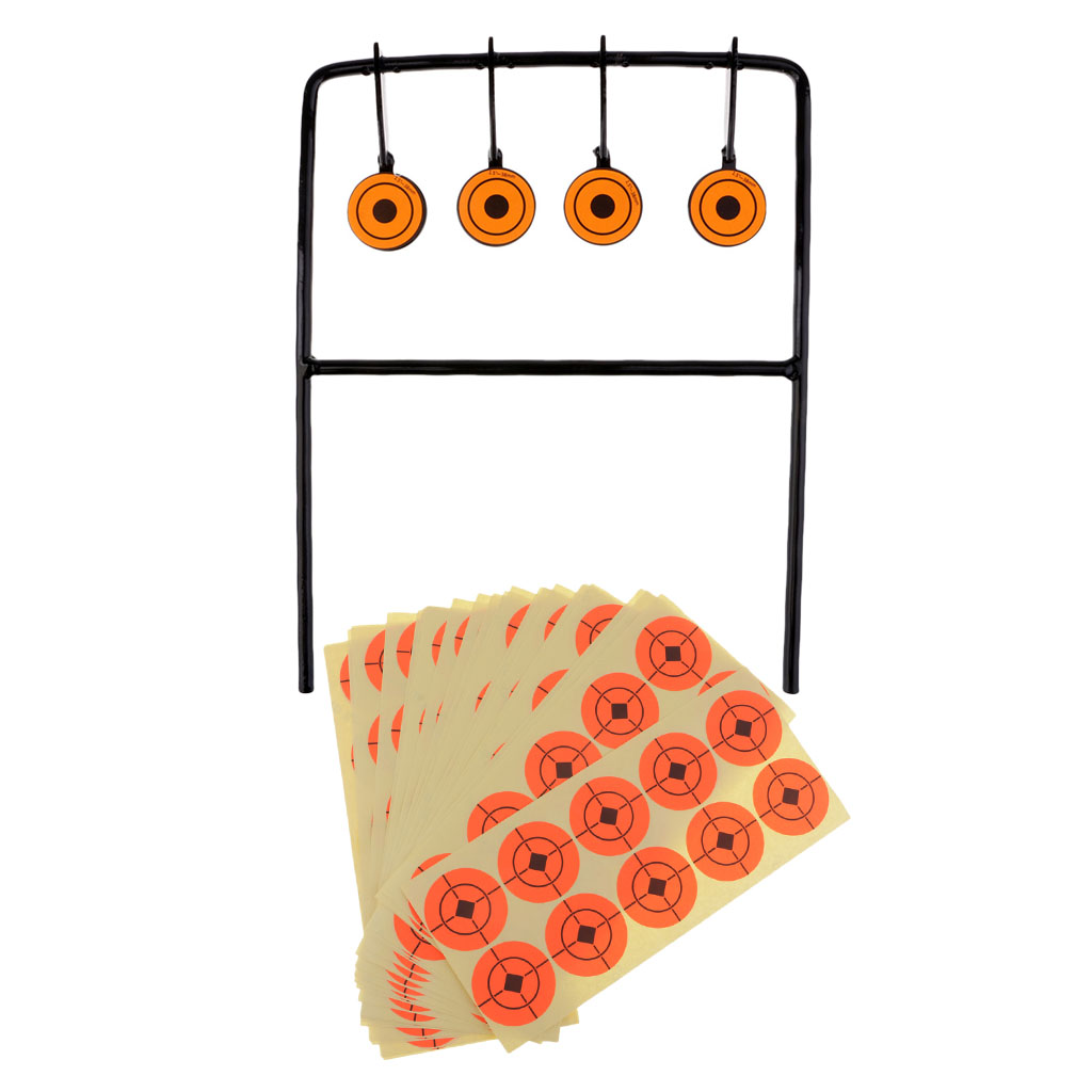Spinning Shooting Target Carbon Steel 4Pcs Same Size Targets + 250 Stickers