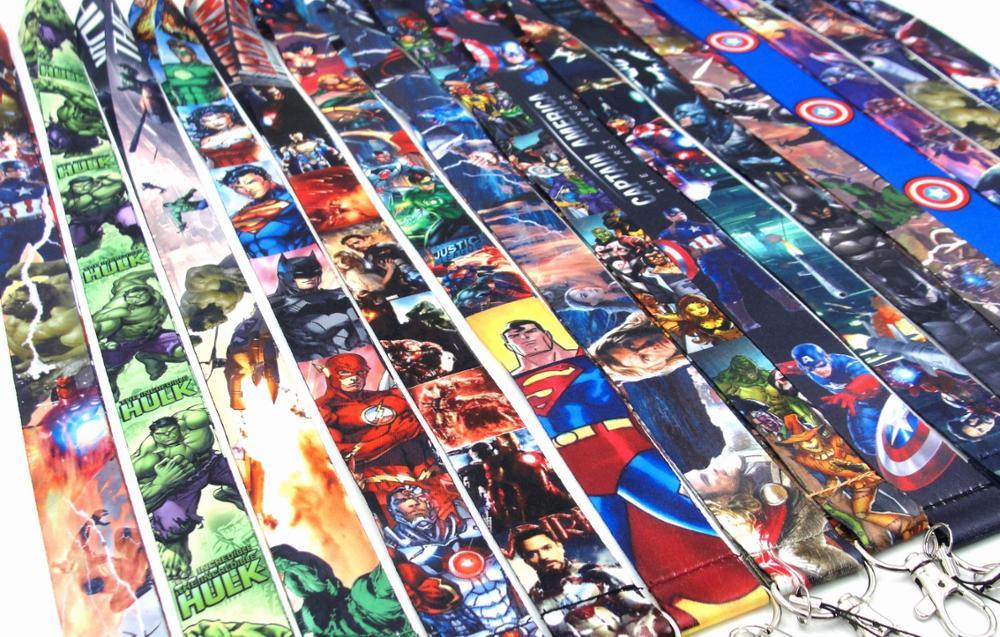 30 Pcs The Avengers Super Hero Sleutel Lanyards Id Badge Houder Sleutelhanger Bandjes Voor Mobiele Telefoon Gratis Verzending
