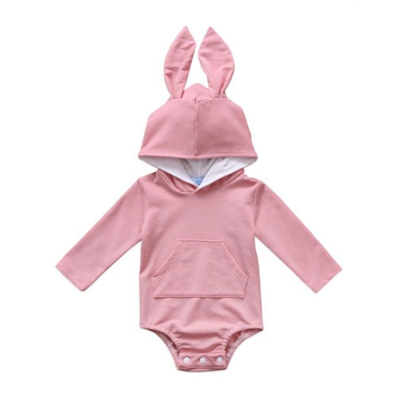 a65902bd7 Adorable bebé recién nacido bebé niño niña del oído de conejo de manga  larga con capucha