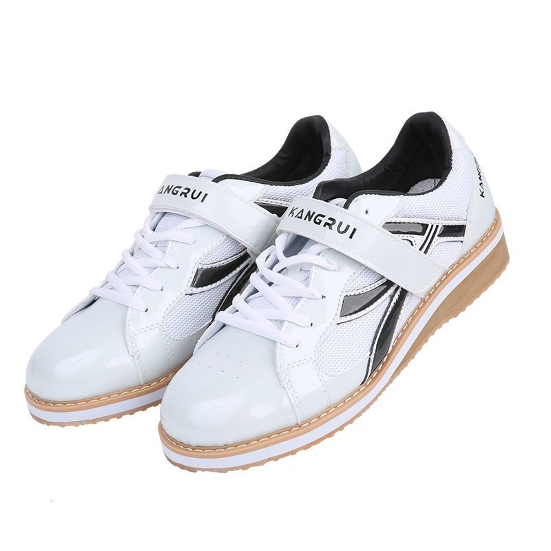 Professional Weightlifting Shoes Squat Training Leather Weight lifting Sneakers Non-Slip Weightlifting boots A9060 Сникеры