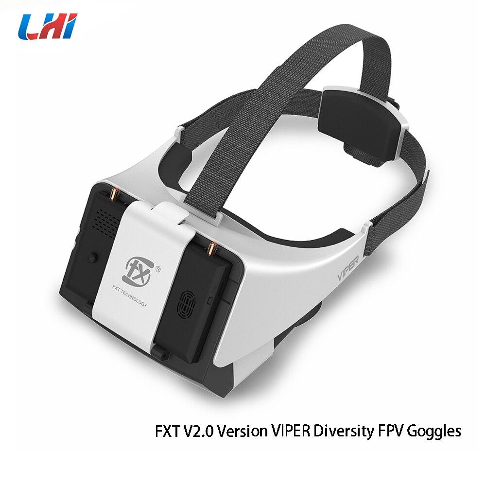 FXT VIPER V2.0 Version 5.8G diversité HD FPV lunettes w/DVR intégré réfracteur pour RC Drone quadrirotor pièce de rechange accessoires FPV