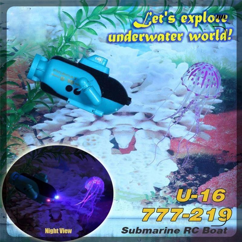 Fernbedienung Spielzeug Zuversichtlich Happycow 777-219 4ch Mini Rc Submarine Radio Elektrische Fernbedienung Schiff Boot Spielzeug Mit Licht Kinder Kid Spaß Und Kawaii Geschenk Strukturelle Behinderungen