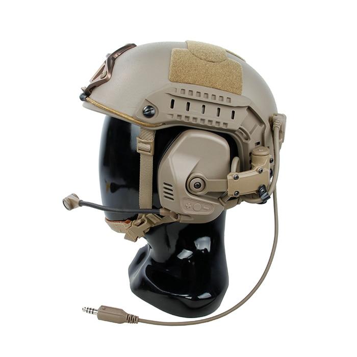 TMC-RC Maritime Tactical RAC Noise Reduction Headset For ARC Rail Helmet BK New