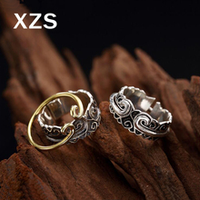100% Genuine S925 Sterling Silver Chinese Style Hand Made Vintage Rings Women Luxury Valentines Day Gift Jewelry JZCN-18002