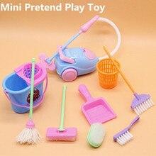 9 шт., детская Чистящая Швабра для уборки, щетка и совок игрушка, игрушечный набор для уборки, игрушки для детей, ролевые игры, инструменты