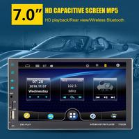 7 Inch HD Capacitor Full Touch Screen Dual USB Multifunction Car MP5 Bluetooth Stereo FM 7702CM MP5 Player