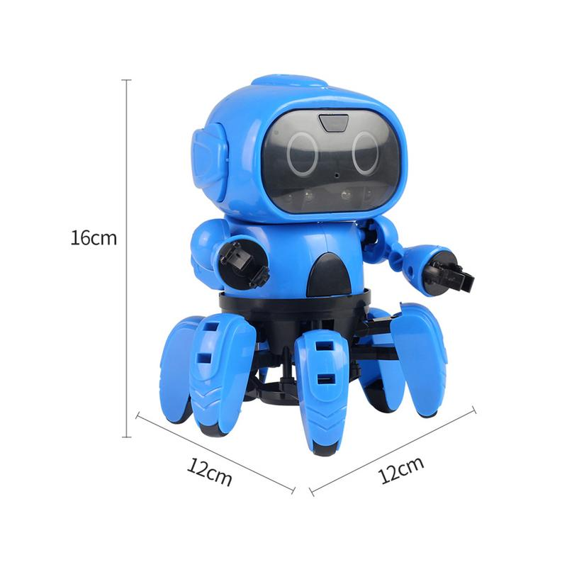 Intelligent RC Robot Toy DIY Assembled Gesture Sing Dancing Remote Control Hexapod Robot Puzzle Earl