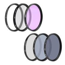 UV+CPL+FLD+ND(ND2 ND4 ND8) Photography Filter Set for Nikon for Canon Sony Pentax DSLRs 49/52/55/58/62/67/72/77/82mm Optional(China)