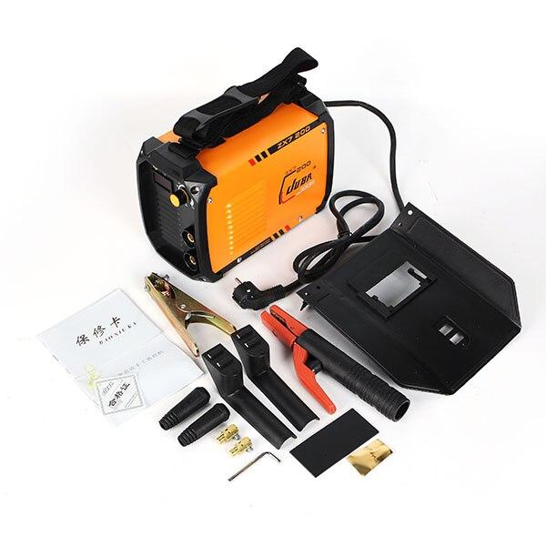 ZX7 200 IGBT портативный сварочный инвертор mma arc СВАРОЧНЫЙ АППАРАТ мини ручной аппарат для дуговой сварки Бытовая сварочное оборудование инстру