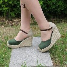 6562301935 Mulheres Sandálias Cunhas Sapatos de Plataforma Boemia Ocasional Tira No  Tornozelo de Verão Sapatos de Salto Alto Mulher Dedo Do.