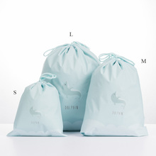 Women Cute Beauty Waterproof Drawstring Makeup Cosmetic Travel Toiletry Bag Packing Organizers Bags Animals