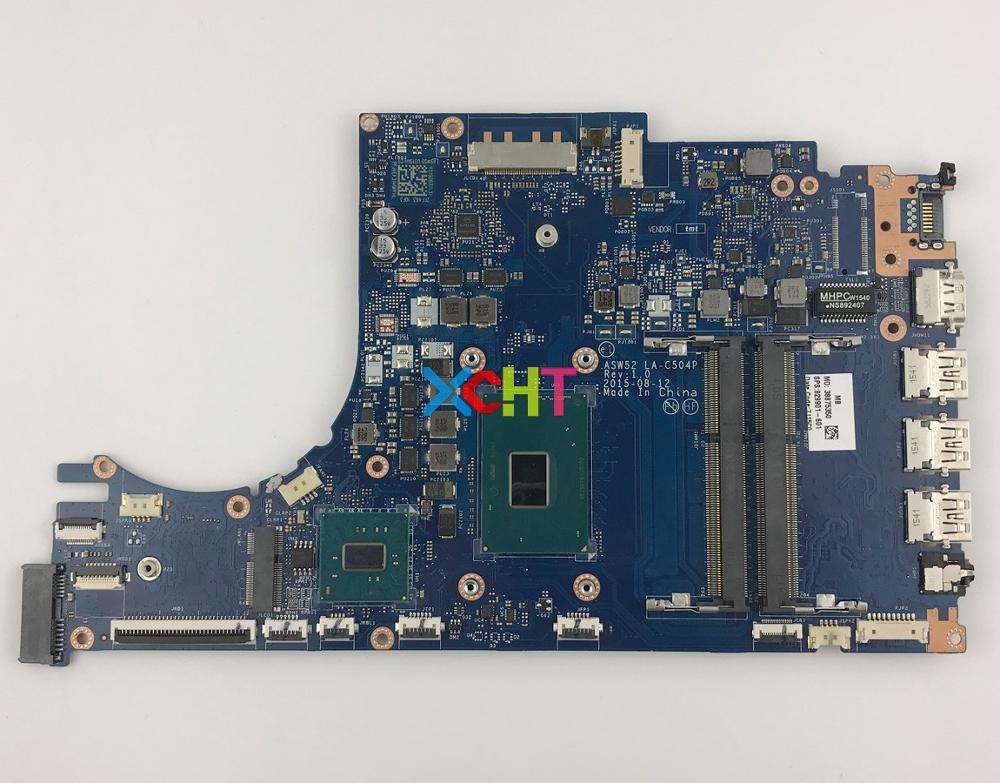 829901-601 w i7-6700HQ CPU LA-C504P for HP ENVY Notebook 15-AE Series 15T-AE100 Laptop Motherboard Mainboard Tested829901-601 w i7-6700HQ CPU LA-C504P for HP ENVY Notebook 15-AE Series 15T-AE100 Laptop Motherboard Mainboard Tested