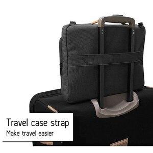Image 5 - 새로운 핸드백 노트북 슬리브 가방 휴대용 비즈니스 서류 가방 맥북 13.3 15.6 인치 노트북 케이스 방수 고용량 가방