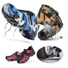Сталь носок Кепки рабочая обувь камуфляжной расцветки; Строительство Для мужчин на открытом воздухе обувь проколов размера плюс защитные ботинки со для спецодежды