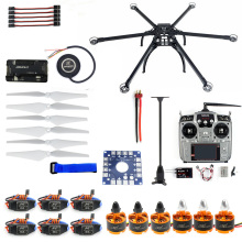 Six-Axis  Hexacopter GPS Drone Kit with RadioLink AT10 2.4GHz 10CH  TX&RX APM 2.8 Multicopter Flight Controller F10513-G jmt diy fpv drone 6 axle hexacopter kit hmf s550 frame pxi px4 flight control 920kv motor gps gimbal at10 transmitter