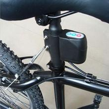 цена на Anti-theft Bike Lock Cycling Security Lock Rain-proof Password Alarm Control Vibration Alarm Bicycle Alarm Mountain Bike Locks
