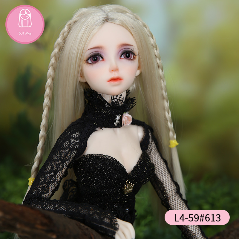Wig For BJD Doll Free Shipping Size 7-8inch 1/4 High-temperature Handmade Wig Long Hair Bjd Sd Doll Wigs In Beauty