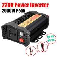 Double USB Max 2000 watts onduleur 1000 W 12 V à AC 220 volts Auto modifié convertisseur à onde sinusoïdale voiture convertisseur de Charge transformateur
