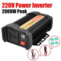 Dual USB Max 2000 Watt Inverter 1000W 12 V to AC 220 Volt Auto Modified Sine Wave Converter Car Charge Converter Transformer