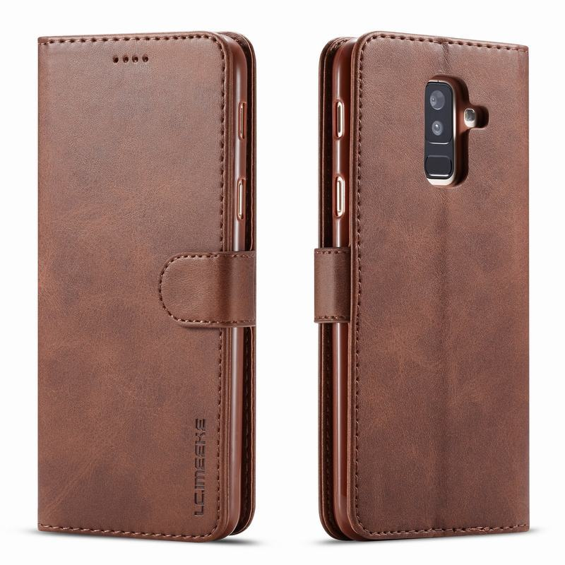 Case For Samsung Galaxy A6 Plus A9 2018 Cover Magnetic Flip Luxury Wallet Plain Leather Phone Bags Etui For Samsung A 6 Plus 360Case For Samsung Galaxy A6 Plus A9 2018 Cover Magnetic Flip Luxury Wallet Plain Leather Phone Bags Etui For Samsung A 6 Plus 360