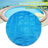 High Quality 240cm/8ft Round Swimming Pool Hot Tub Cover Outdoor Blanket Protector Heated Dustproof Garden Pool Cloth Mat Cover
