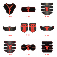 2pc Replacement Muscle Stimulator EMS Figure Slimming Machine Weight lossing Tens Exercise Slim Belt Rechargeable Part Red
