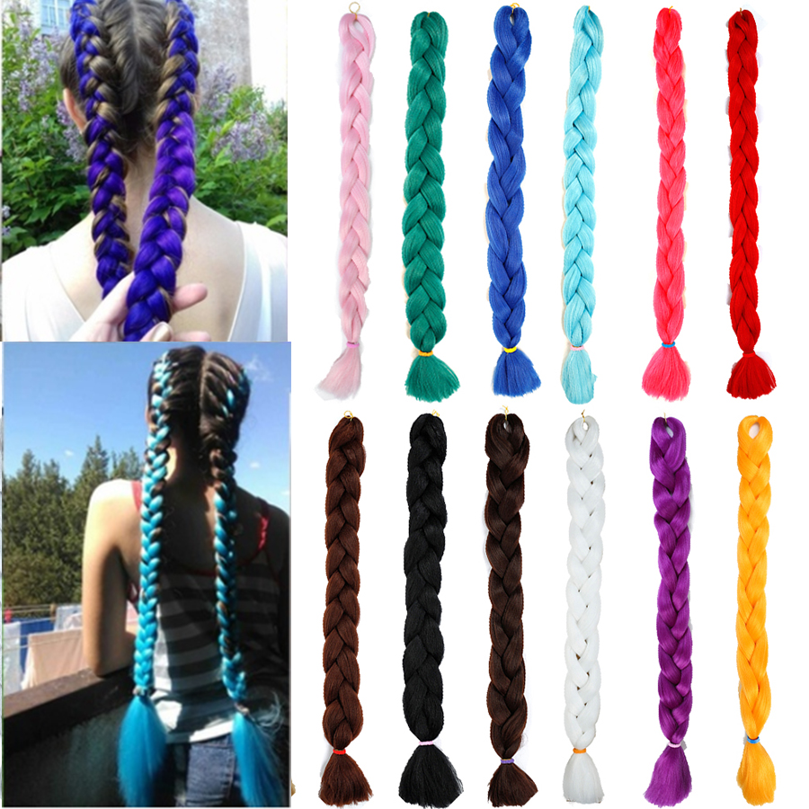 MUMUPI 40 Colors 82cm Braiding Synthetic Extension Twist Hair Wig for Party Hair Styling New Lightweight   Headwear   for Women