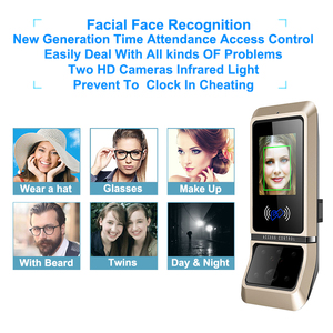 Image 2 - Face Access Control System Face Recognition Door Lock Biometric System USB Time Clock Recorder For Office Employee Equipment