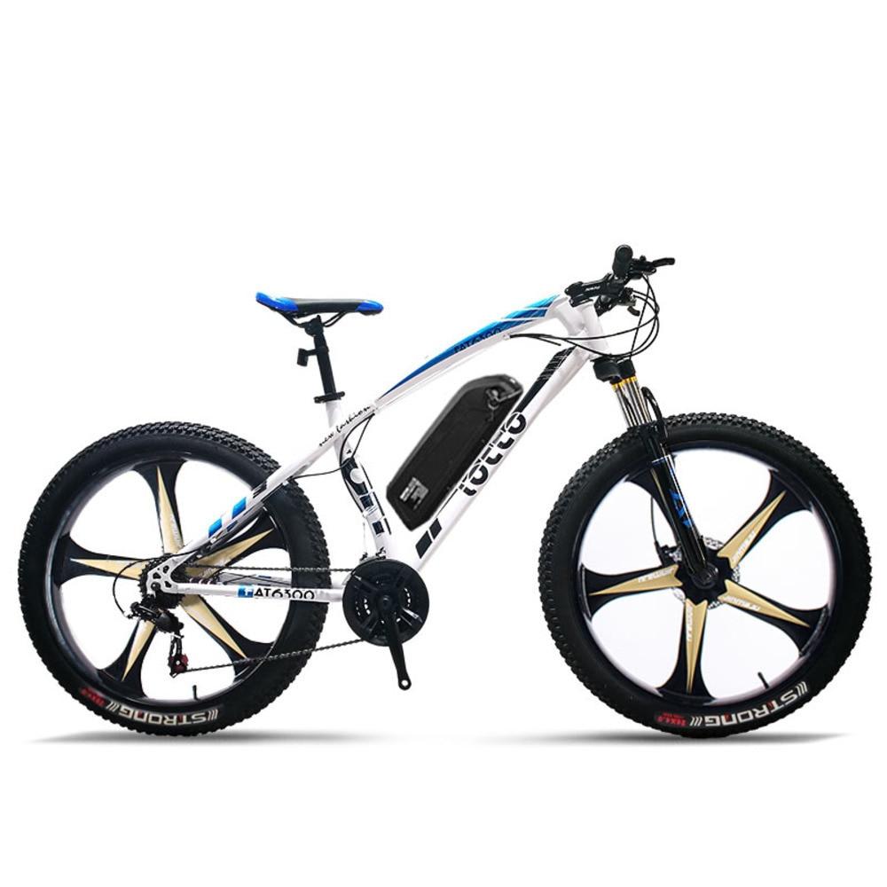 Électrique Vélo Électrique pneu de vélo 26 Pouces Personnalisé Fat 48 V Li Ion Batterie 500 W Vtt Route 27 Vitesse Cinq roues à rayons Ebik