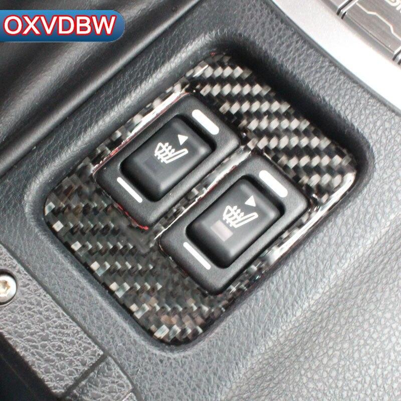 For Subaru BRZ TOYOTA 86 FT-86 accessories Seat heating decorate carbon fiber automotive interior trim stickers