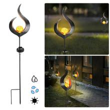 outdoor solar light Waterproof Solar Flame Shape Activated Yard LED Lamp Garden Pathway Lawn Light solar led light outdoor