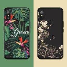 Silicone Case For Xiaomi Redmi Note 5 Flower Plants Case Cover For Redmi Note 6 Redmi 5 Plus A2 Lite Luxury Floral Fundas Coques все цены
