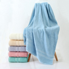 Pure cotton bath towel Fine combing cotton boutique broken bath towel Plain color sleeve high-end gift towel bath towel