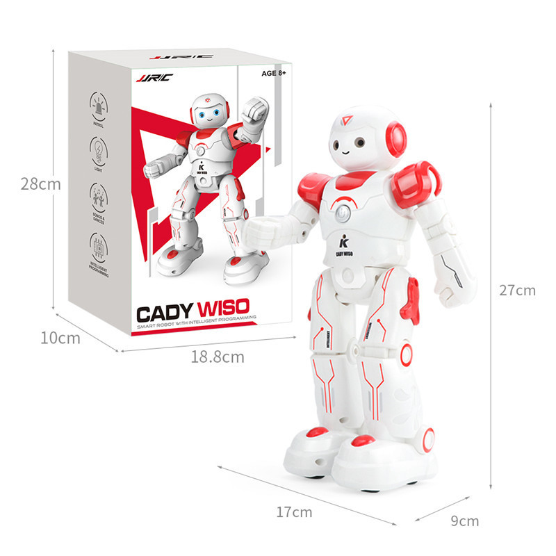 JJRC R11 CADY WIKE R12 CADY WISO Smart RC Robot Gesture Sensing Touch Intelligent Programming Dancing Patrol Toy ZLRC in Action Toy Figures from Toys Hobbies