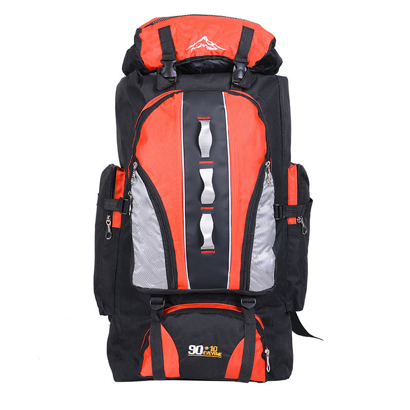 PUOU Mountaineering Backpack 90L+10L Water Repellent Nylon Unisex Outdoor Walking Travel Shoulder Bag Large Capacity 100L