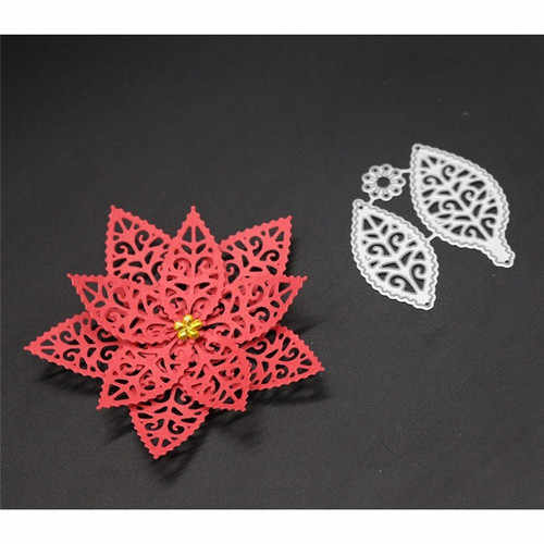 3D Flower Cut Metal Dies Lace Petals Template For DIY Scrapbooking Album Engraving Paper Cards Deco Craft Die Cuts
