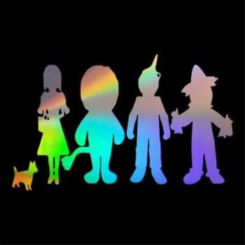 子供のための人形劇漫画のアニマルキャラクターオズの魔法使いのステッカーウォールステッカーホームガラス窓デカール17.9cmX11.1cmオフショア水着花柄