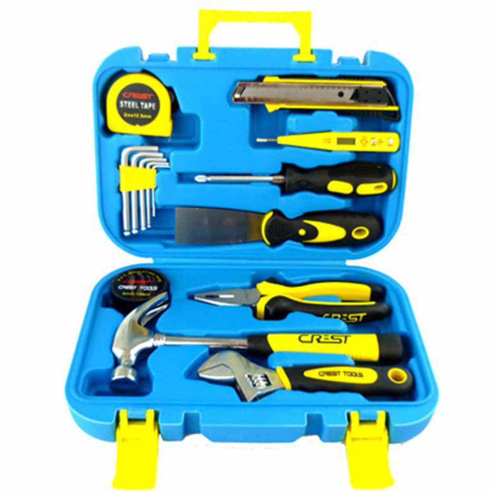 Hardware Combination Tool Set 15 Sets of Household Hexagonal Knife Jacket Manual Repair Tool Kit Screwdriver Multitool household 16 toolbox kit screwdriver kit allen key kit manual hardware multifunction maintenance combination tool