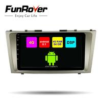 Funrover Android8.1 2din Car dvd gps Player For Toyota Camry 2008 2009 2010 2011 radio navi Navigation multimedia DSP 4G 64G LTE