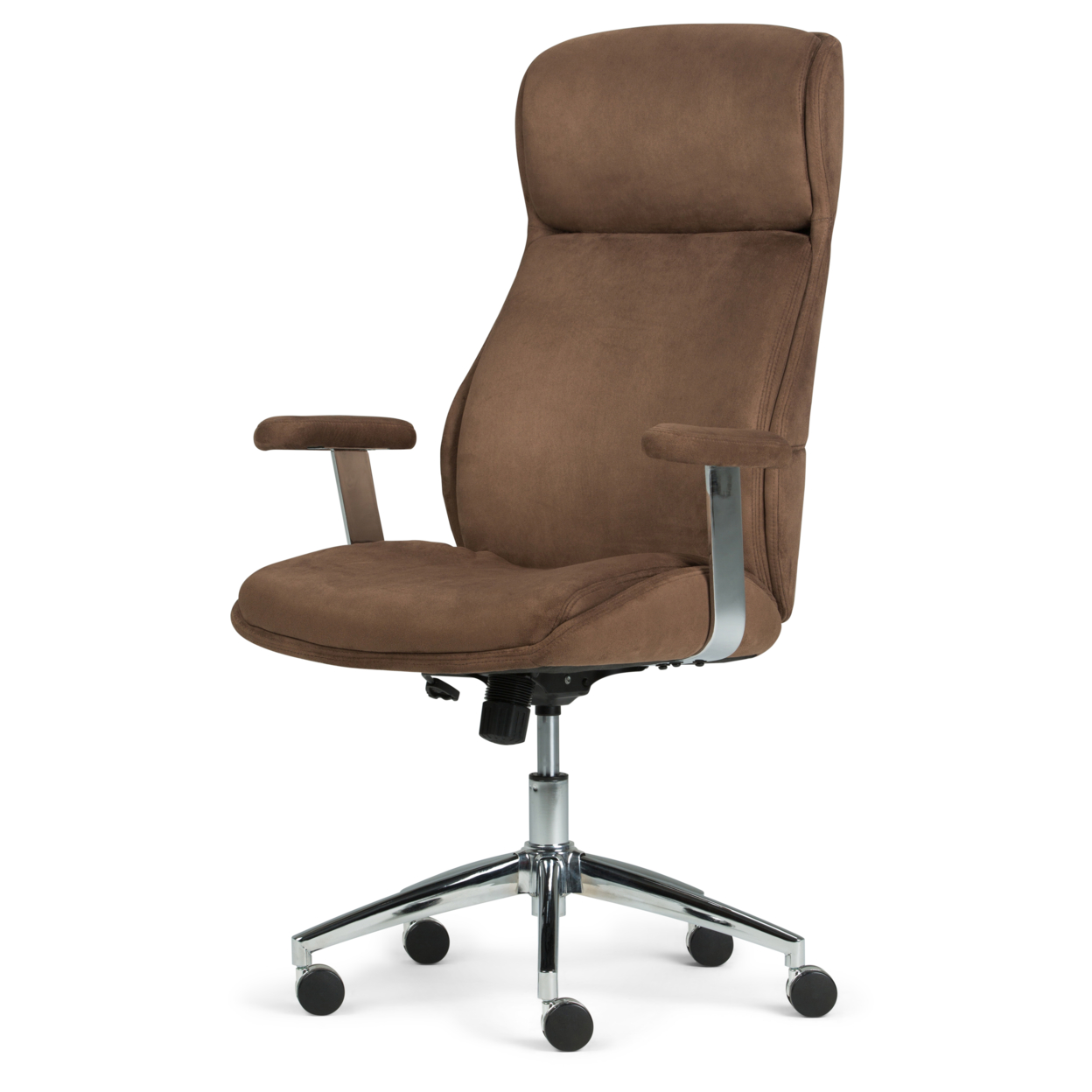 Marvelous Melbourne Swivel Office Chair In Chocolate Brown Faux Suede Pabps2019 Chair Design Images Pabps2019Com
