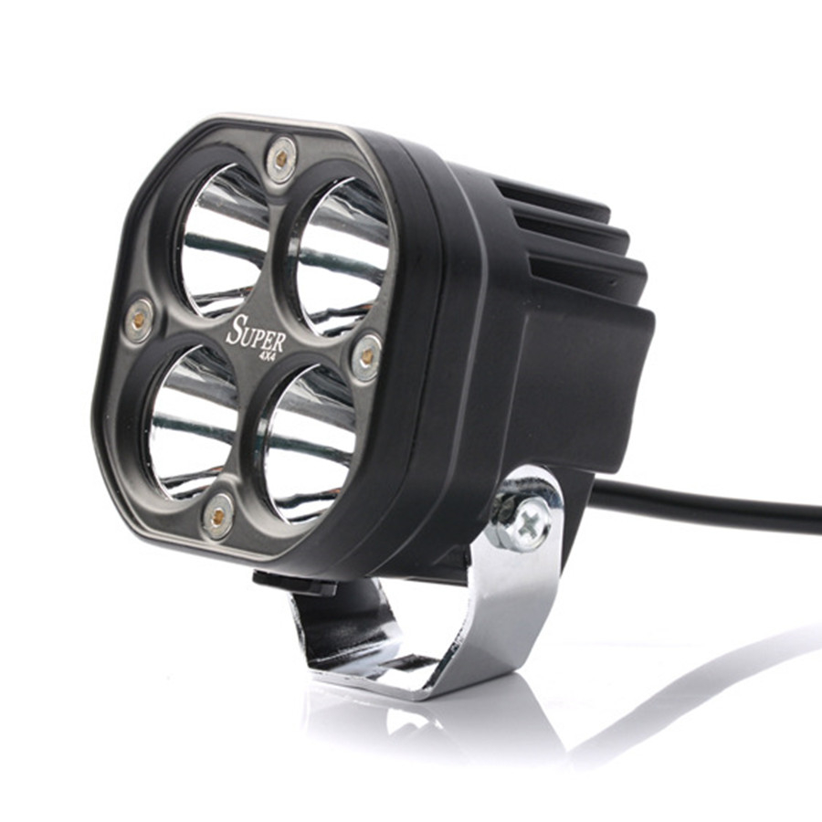 Universal Super Bright 3 Inch 40W T6 LED 8000LM 6500K White Work Headlight Amber Fog Light Spot Light Aluminum
