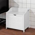 SoBuy FSR40-W, White Bathroom Storage Cabinet Chest, Laundry Bin, Laundry Basket, Toy Box