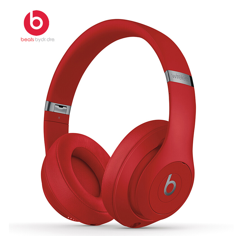 Beats Studio3 Wireless Over Ear Headset Bluetooth Music Headphones Pure Anc Noise Reduction Earphones With Microphone Aliexpress