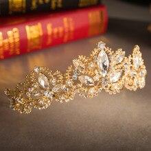 9f6e70d2f7f4 Vamos a hacer de boda hecho a mano de cristal de corona tocado hecho a mano  joyas de la Corona boda pelo joyas adornos chica cor.