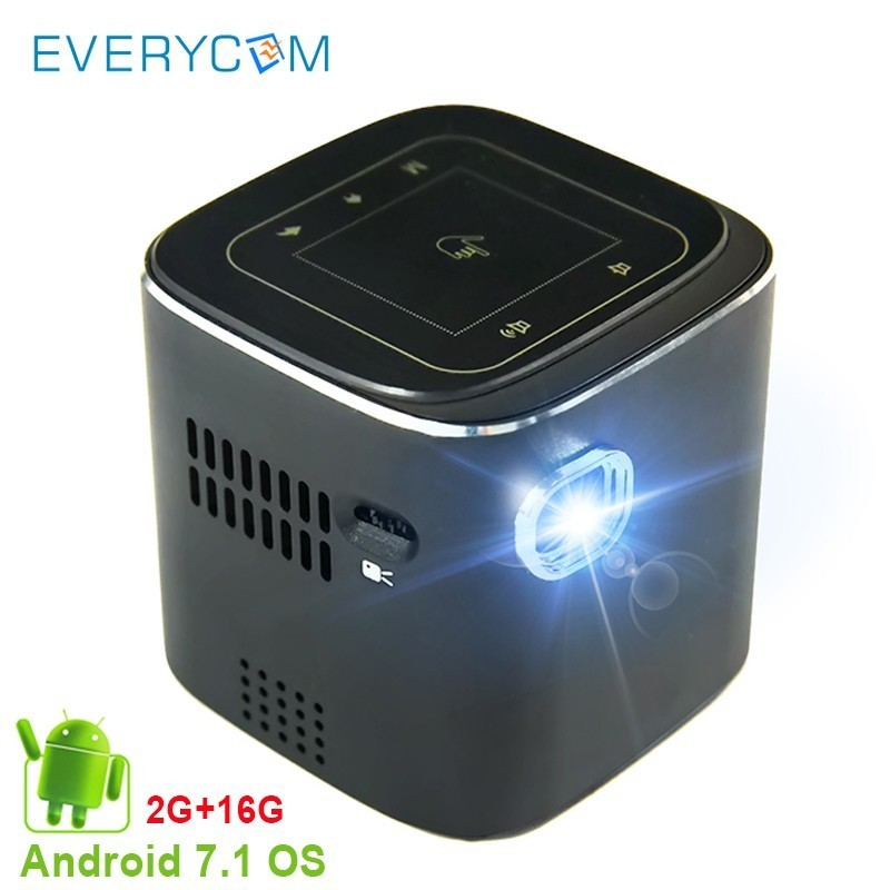 Mini DLP Projector Android Pocket LED Video Projector For Full HD 1080P With WiFi Bluetooth Battery Beamer Home Theater Cinema